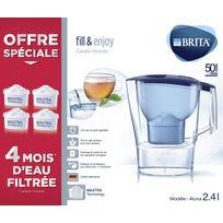 BRITA - Carafe Aluna bleue + 4 cartouches 1024551