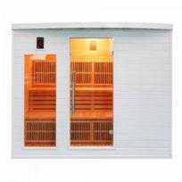 France Sauna - Sauna Infrarouge Soleil Blanc - Club - 5 Places