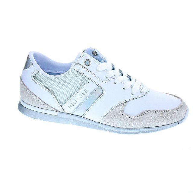 b51b0a402644a Tommy hilfiger - Chaussures Femme Baskets basses modele Iridescent Light  Sneaker - pas cher Achat / Vente Baskets femme - RueDuCommerce