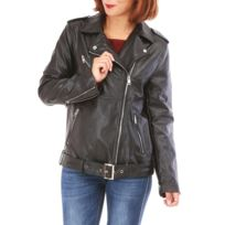 Blouson imitation cuir femme grande taille pas cher