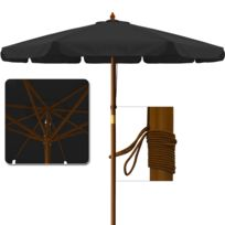 Rocambolesk - Superbe Parasol noir 350 cm Neuf