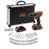 Black & Decker - Perceuse-visseuse Bdcdc18BAFC 2x18 V Li + 80 access