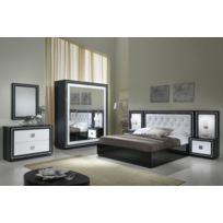 decodesign chambre coucher model kristel noir blanc