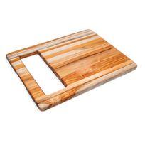Teak Haus - Planche à Découper Rectangulaire En Teck à Large Poignée Intégrée 40 X 30 Cm