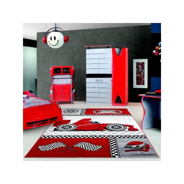ayyildiz tapis tapis enfant formule 1 voiture de cours rouge pas cher achat vente tapis. Black Bedroom Furniture Sets. Home Design Ideas