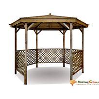 Kiosque de jardin en bois hexagonal Lora