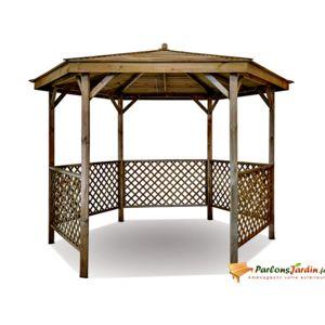 Jardipolys - Kiosque de jardin en bois hexagonal Lora - pas cher ...