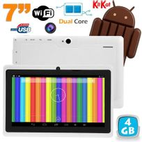 Tablette tactile Android 4.4 KitKat 7 pouces Dual Core 4Go Blanc