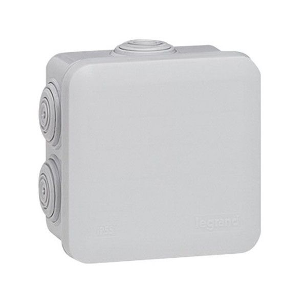 Lot 5 boites de dérivation Plexo gris entrée défonçable 80X80X45 Legrand 92014