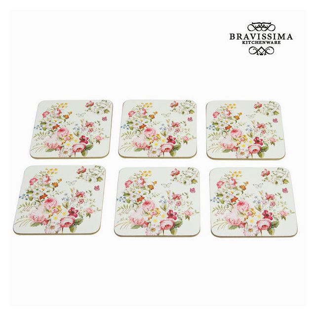 quality design 6de22 05a40 Lot de 6 dessous de verre - Collection Kitchen's Deco by Bravissima Kitchen