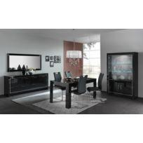Modern salon - Buffet 4 portes battantes Modena laqué noir