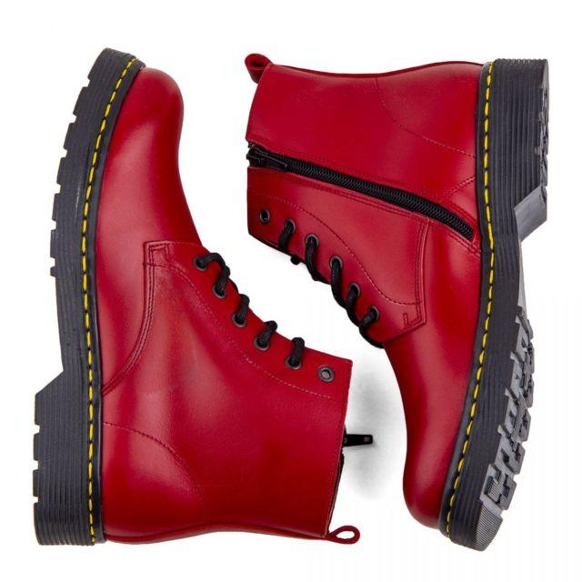 choisir authentique comparer les prix vaste sélection Orlando - Boots rouges cuir zip latéral Homme 38 - pas cher ...