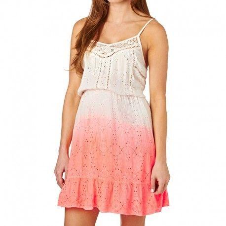 085dedfef6645 Superdry - Robe Blanc Orange Dip Dye Schiffli Chelsea Dress Femme ...