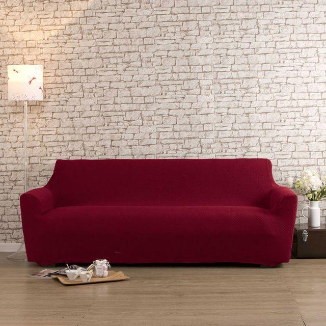 comptoir des toiles housse de canap 2 places bi extensible lisa rouge pas cher achat. Black Bedroom Furniture Sets. Home Design Ideas