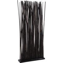 AUBRY GASPARD - Paravent 34 tiges de bambou patiné noir