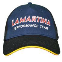 c1c30109e41f5 Casquette La Martina noire et bleu marine Maserati performance team pour  homme