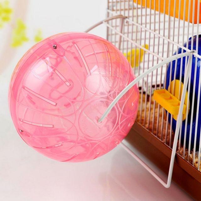 Wewoo Jouet pour Animaux Petit Hamster muet boule de course avec support, Couleur Aléatoire, diamètre: 12cm