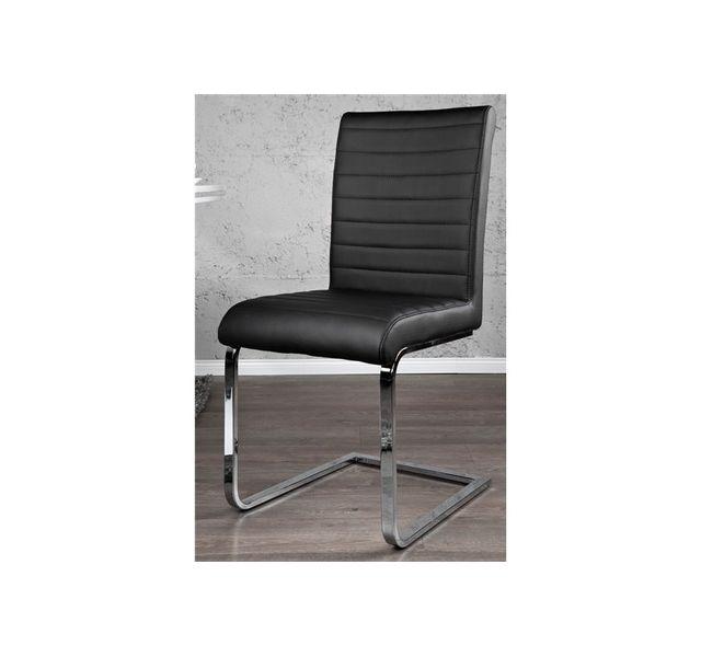 CHLOE DESIGN Chaises design Stari - noir - Par 2