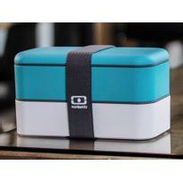 Monbento - Boîte bento 2 compartiments hermétiques 1L Mb Original - Bleu/blanc