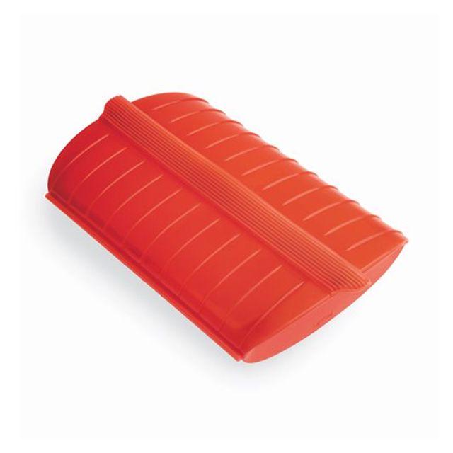 LEKUE papillote silicone coffret vapeur 27.5x21cm rouge - 3402600r10u004