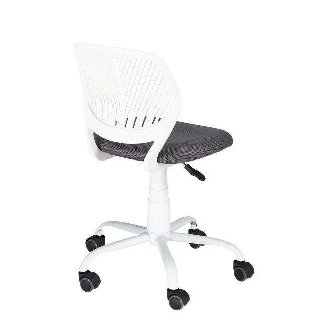 RUE DU COMMERCE Chaise de bureau - Blanc et gris - CARNATION_ Chaise de bureau design et confortable.
