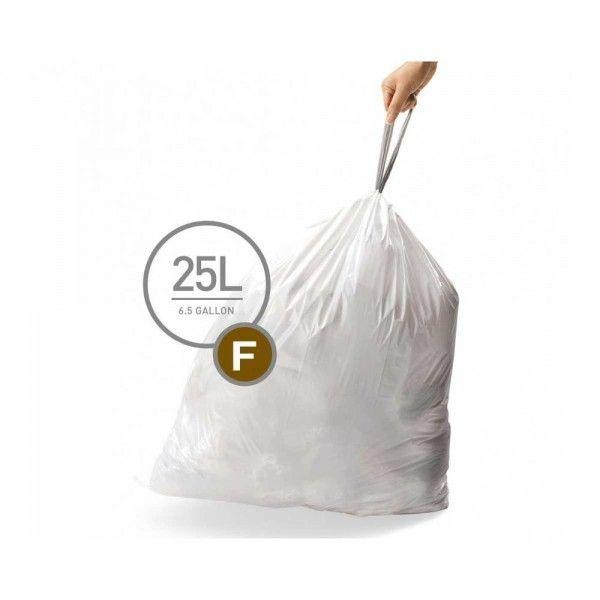 Simplehuman 3 pack de 20 sacs poubelle f 25 l