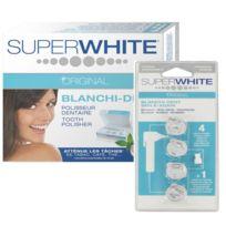 Super White Original - Promo : Pack Polisseur Dentaire & 4 Recharges