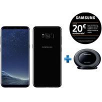 Samsung - Galaxy S8 Plus - Noir Carbone + Chargeur à induction Stand - Noir