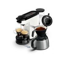 Philips - Senseo Switch Machine à café à dosettes et filtre Blanche Hd7892/01