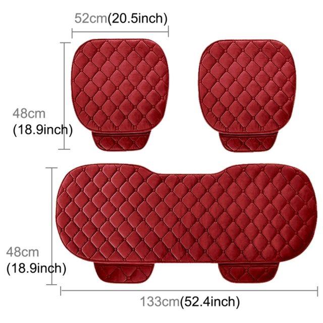 Wewoo 3 Pcs / Set luxueux coussin de couverture de siège de voiture chaud Universel avant arrière couvre housses de de chaise
