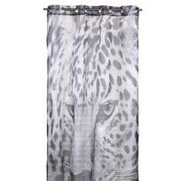 Home Stories - Voilage à œillets polyester imprimé tête léopard beige/noir 150x250cm Safari