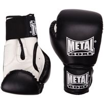 Metal Box Manufacture - Gants de boxe initiation metal boxe noir 8 oz