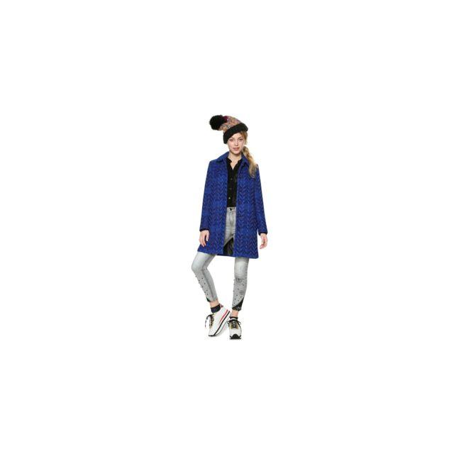 Desigual - Manteau Henkel Bleu 18WWEWBM - Taille - 38 - pas cher Achat    Vente Blouson femme - RueDuCommerce 86c40b410eba
