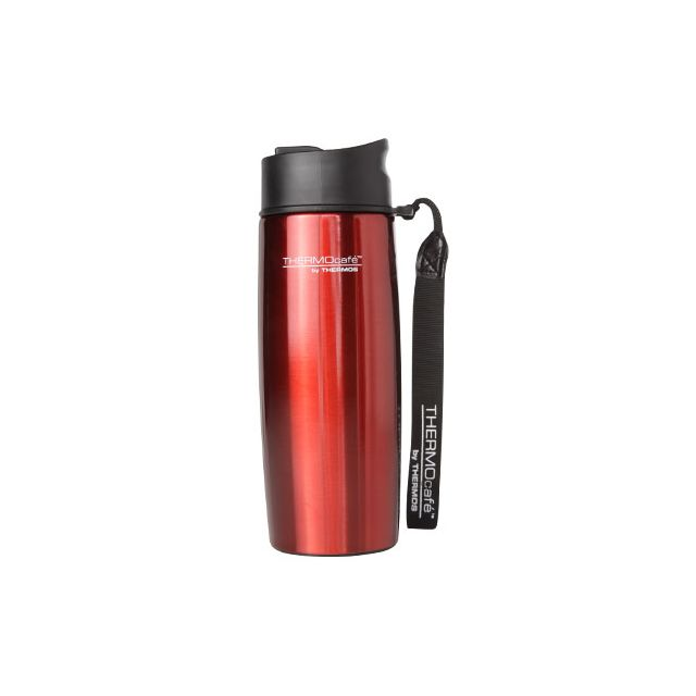 thermos mug tumbler isotherme 35cl rouge avec dragonne urban pas cher achat vente travel. Black Bedroom Furniture Sets. Home Design Ideas