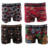 Angry Birds - Boxers Homme Lot de 4 Couleur - Noir/Rouge, Taille - Xxl