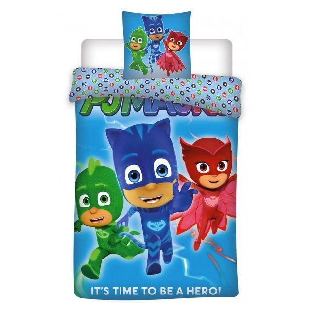 Disney Junior - Pyjamasque Hero - Parure de Lit Enfant - Housse de Couette 5191de55b1ba