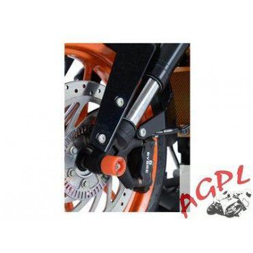 ktm 125 390 duke protections de fourche r g racing orange 4450285 pas cher achat vente. Black Bedroom Furniture Sets. Home Design Ideas