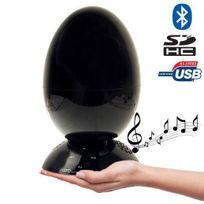 Yonis - Enceinte bluetooth Hi-Fi lecteur carte Sd cle Usb Jack 3.5 Noir