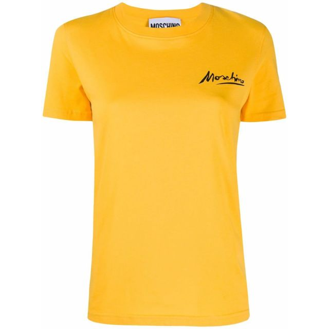 MOSCHINO Femme A070804401028 Jaune Coton T-shirt