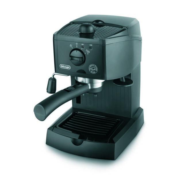 """De'Longhi Machine à expresso EC154-B ExpressoCafé moulu et dosettesPression 15 barsChaudière en acier inoxydableRéservoir transparent d'une capacité de 1 litreAuto-amorçage""""Cappuccino System""""2 thermostats"""