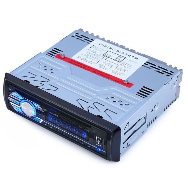 Auto-hightech Autoradio Audio Stéréo de Voiture 12V avec Support de Lecteur Usb, Dvd, Vcd, Cd, carte Sd, Lecteur Mp3 avec Télécommande