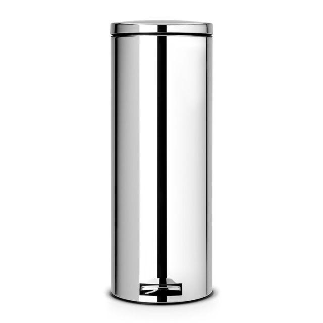 Brabantia Poubelle à pédale, 20 litres Slimline, MotionControl - Brilliant Steel