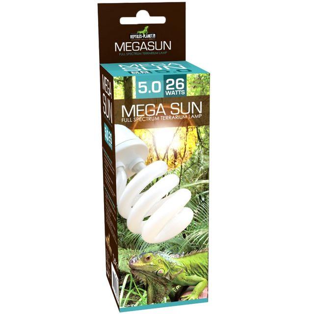 Reptiles Planet Mega Sun Uvb 5.0 lamp - 26W 5% Uvb 30% Uva