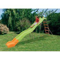 Amca by Trigano - Toboggan double vague longueur de glisse 3.80 m Vert / sable / orange X-stream