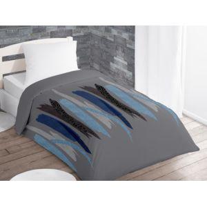 intemporel couette imprim e 140x200 cm tulle gris pas cher achat vente couettes. Black Bedroom Furniture Sets. Home Design Ideas