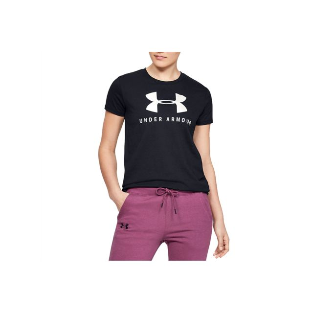 UNDER ARMOUR Graphic Sportstyle Classic Crew 1346844-002 Noir