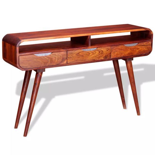 Icaverne - Bouts de canapé famille Table console Bois massif de Sesham 120 x 30 x 75 cm