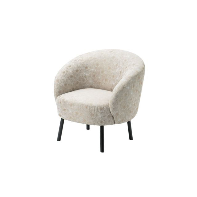 HELLIN Fauteuil crapaud jacquard GOLDIE