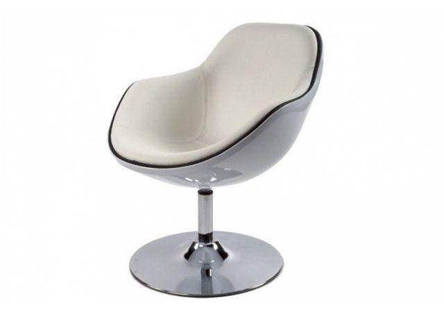 Declikdeco Ce Fauteuil design blanc liseré noir en simili cuir Miami est un fauteuil qui a divers avantages. En effet, outre le fai