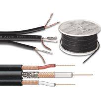 Velleman - Cable Audio/VIDEO Professionnel 75 Ohm + 2 x Audio